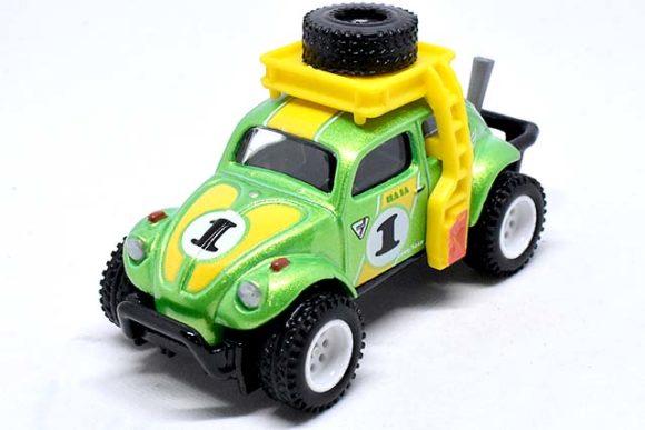 Hot Wheels Desert Rally VW Volkswagen Baja Bug with Real Riders